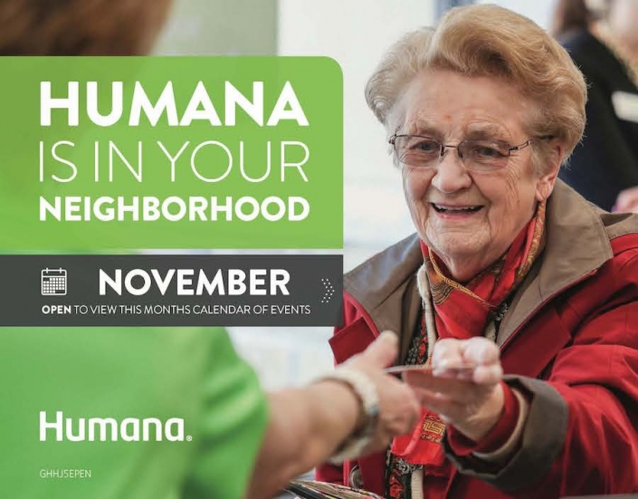 Humana Health Care calendar cover art
