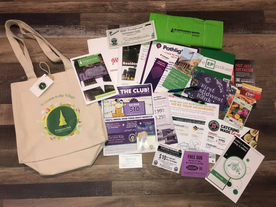 Chamber welcome bag contents