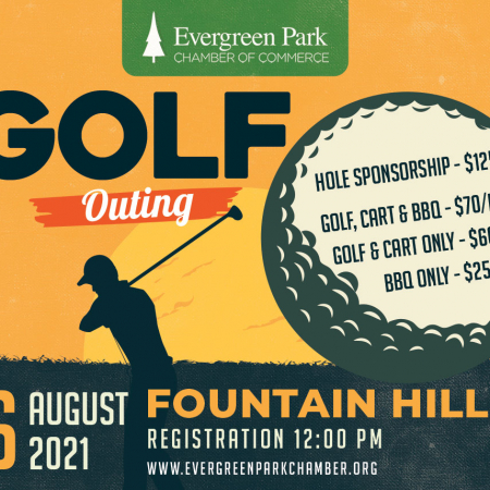 Evergreen Park Chamber of Commerce 2021 Golf Outing illustration